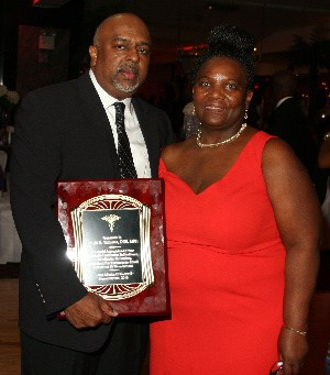 Dr Dwight Williams and Lorna Rawle