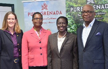 Patricia Maher, Sylma Brown Bramble, Clarice Modeste Curwen, Rodney George of Grenada Tourism Authority