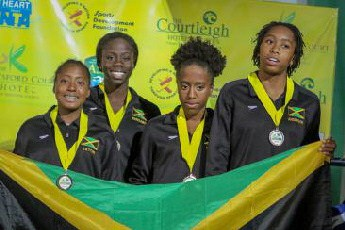 Jamaican Girls Eaton, Johnson, Banks and Anderson Sweep Sprint Freestyle Relay Titles