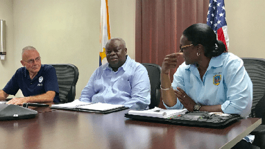 Governor Mapp conferences with President Trump and FEMA on hurricane preparation
