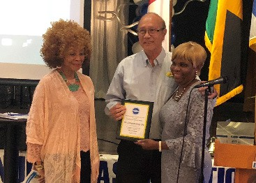 JNAF Community Service Award to Livingston Yap of LEASA Industries Miami