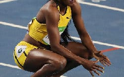 5th place for Elaine Thompson, won't be a pain