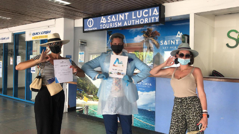 Saint Lucia Welcomes First flight American Airlines from Miami